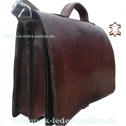 Briefcase Leather Men Bag Chestnut Brown man Shoulderbag Messenger Bag