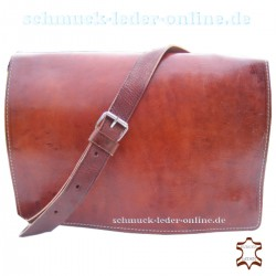 Leather Briefcase Julius  Redish Brown