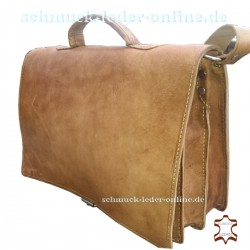 Briefcase Leather Men Bag natural light Brown beige man Shoulderbag Messenger Bag
