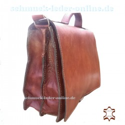 Briefcase Leather Men Bag natural redish Brown beige man Shoulderbag Messenger Bag