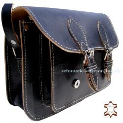 """Schwarze Vintage Leder Tasche """"Steffi"""""""
