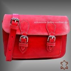 """Rote Vintage Leder Schultertasche """"Steffi"""""""