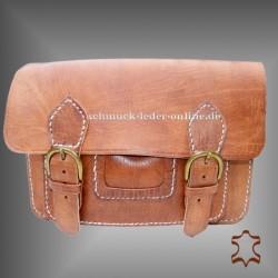 Natur Echtleder Vintage Messenger Tasche Naturleder echtes Leder Mittelgroße handgemacht Umhängetasche beige