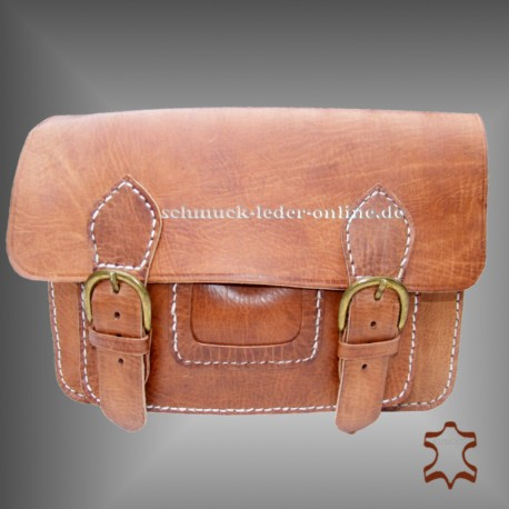 Natural Leather Vintage Bag Sofia handmade shoulder bag