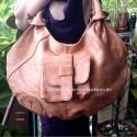 Damen Natur-Leder-Tasche Shopper XL Umhängetasche
