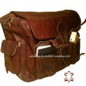 "XXL Leather Messenger Bag ""Moby"" Chestnut Brown"
