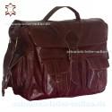 "XXL Leather Messenger Bag ""Balú"" Chestnut Brown"