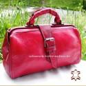 Red Vintage Leather Handbag Doktor Bag