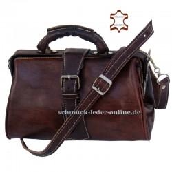 Bolso de mano marrón vintage de Cuero de Medico para mujer