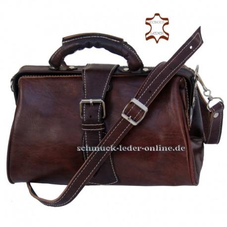 Braune Damen Vintage Handtasche Arzttasche Umhängetasche Echtleder Naturleder Schultertasche Ledertasche Leder Tasche Tragetasch