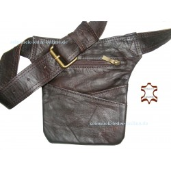 Brown real Leather Waistbag Hip Bag Waist Side Goa Fanny Pack natural genuine Belt Handmade