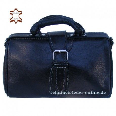 Black Vintage Leather Bag Doctors bag for women ladies