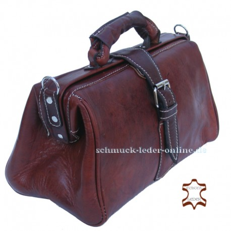 Brown Vintage Leather Bag Doctors bag for women ladies