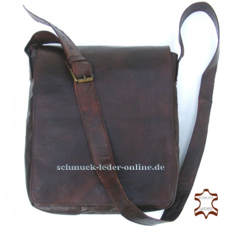 "Leather Messenger Bag ""Detlef"" Brown Natural Vintage men Shoulder bag"