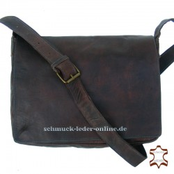 "Brown Leather Messenger Bag ""London"""