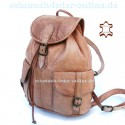 "Leather Backpack ""Toubkal"" Natural Midsize"