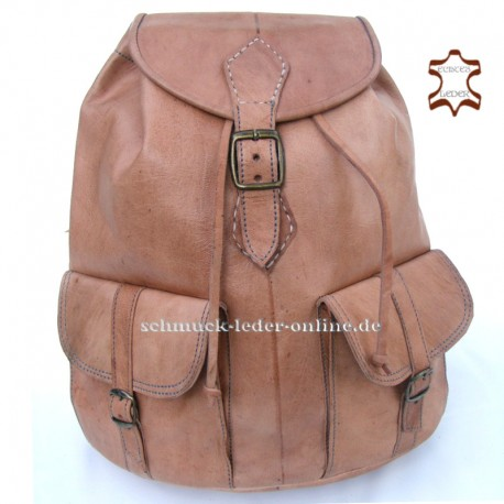 "Leather Backpack ""Aragon"" Natural Large handmade"