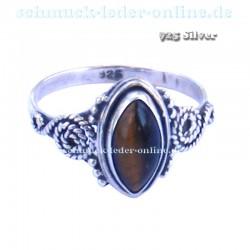 Anillo de mujer 925 Plata de Ley piedra precios Ojo de Tigre Artesanal hecho a mano