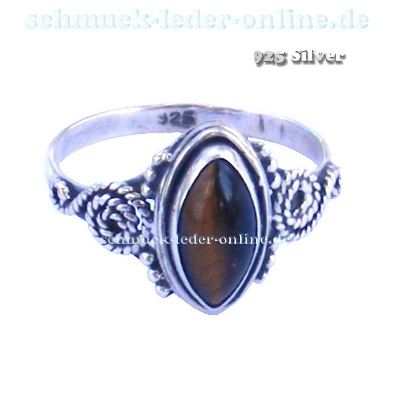 ddf6658b9f7d Anillo de mujer 925 Plata de Ley piedra precios Ojo de Tigre Artesanal hecho  a mano. Loading zoom