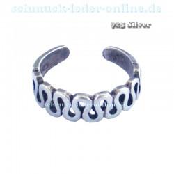 Anillo de los dedos de pied de mujer 925 Plata de Ley Artesanal hecho a mano