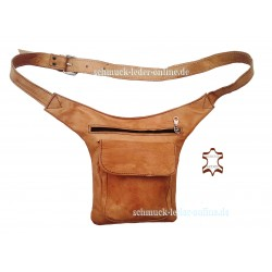 Beige real Leather Waistbag Hip Bag Waist Side Goa Fanny Pack natural genuine Belt Handmade