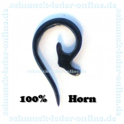 Horn 2mm Spiral Tribal Earring natural organic gauge