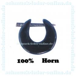 Pendiente Aretes aro dilatador 2mm Tribal Espiral de Cuerno Negro Dilatacion de oreja