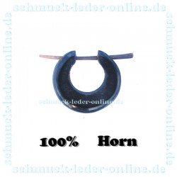 Horn  Tribal men Earring natural organic gauge