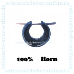 Schwarze Creole Horn Tribal Ohrring