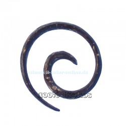 Dehnungsschnecke 3mm Kokos Spirale Ohrring Braune Dehnungsspirale Expander