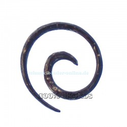 Coconut 3mm Spiral Earring natural organic gauge expander
