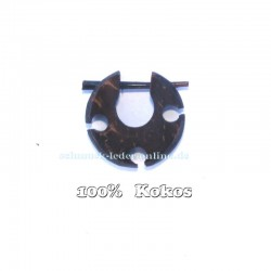 Brauner Ohrring Creole Dehnungsstab 2mm Kokos Tribal Herren Ohrring Braun