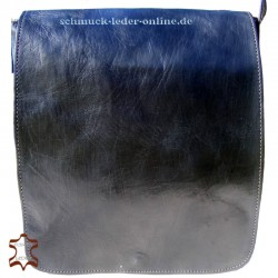 "Leather Messenger Bag ""Detlef"" Black for Men"
