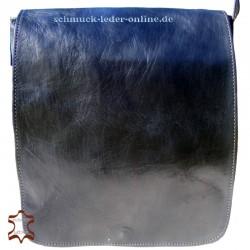 Mittelgr. Leder Hochformat Schultertasche Q² M Schwarz