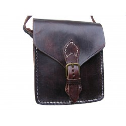 "Leather Bag ""Juanito"" Chestnut Brown"